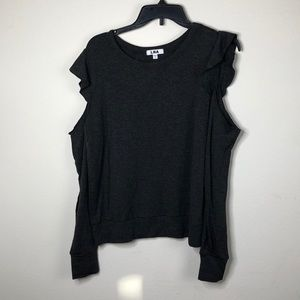 LNA COLD SHOULDER soft sweatshirt